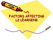 Factors affecting second language l...