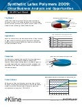 Synthetic Latex Polymers 2009  China - Fact Sheet