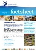 Wessanen Factsheet May 2012