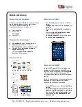 B!Digital - Factsheet Mobile Advertising - 2010