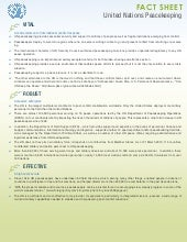 Factsheet un peacekeeping