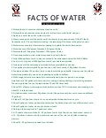 Facts of water