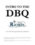 Introduction to DBQ (AP European History)