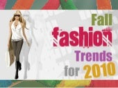 Fall 2010 fashion trends