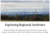 Exploring the Concept of Regional Institute for Faculty, Staff, Students, and Partners
