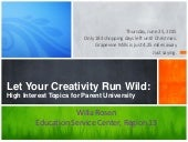 Let Your Creativity Run Wild for Parent University