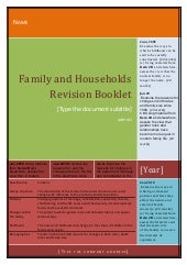 Family and households revision booklet