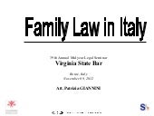 Family Law in Italy – Att. Patrizia...