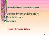 Family life in_islam