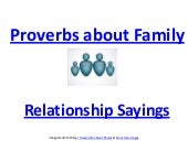 Family proverbs