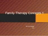 Family therapy concepts