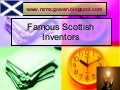 Famous Scottish Inventors