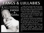 Book Teaser: Fangs & Lullabies