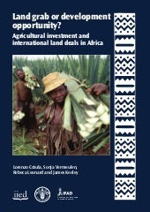 Agricultural investment and interna...