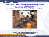 Dairy Value Chain Development In Et...