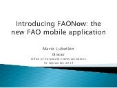 FAONow: New mobile application from the Food and Agriculture Organization of the United Nations