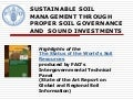 Sustainable soil management through proper soil governance and sound investments