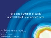Food and Nutrition Security in Small Island Developing States