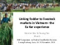 Linking fodder to livestock markets in Vietnam – the Ea Kar experience