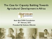 The Case for Capacity Building: Tow...