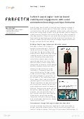 Case Study: Farfetch Uses Google Plus to Drive Brand Visibility and Engagement with Social Annnotations Boosting Search Performance Reference