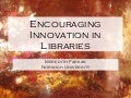 Encouraging Innovation in Libraries