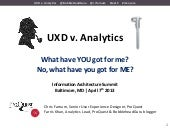 UXD v. Analytics - IAS13 Baltimore