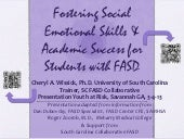 FASD Social Emotional Interventions