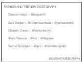 Fashion and the New Taste Graph - S...
