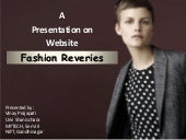 Fashion Reveries - Website Development