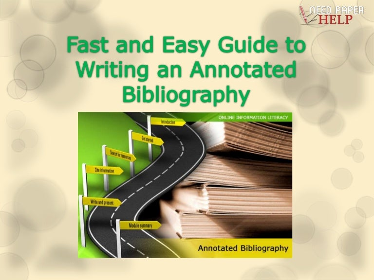 bibliographies   How to make an annotated bibliography   TeX     rokujiyuumdns An annotation offers the point of view of the author