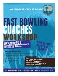 Fast bowling coaches workshop  flyer