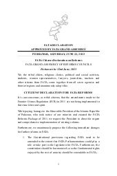 Citizens Declaration for FATA Refor...
