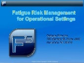 Fatigue Science Risk Management
