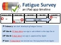 Fatigue Survey iPad App Timeline