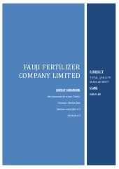 Fauji fertilizers