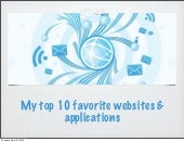 My Ten Favorite websites and applic...