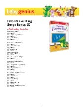 Favorite counting songs_dvd_cd_lyrics