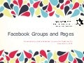 Utilizing Facebook Pages and Groups for Nonprofit Organizations