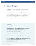 Facebook Pages Manual
