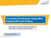 Functional Continuous Integration with Selenium and Hudson