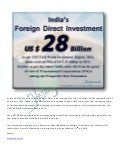 #FDI Inflow to #India During 2013