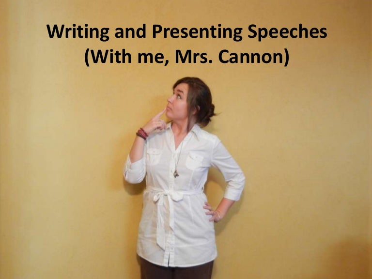 Write an essay on speech writing and presentation