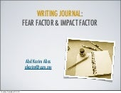 Fear Factor and Impact Factor
