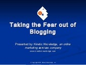 Take the Fear Out of Blogging
