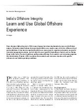 India's Offshore Integrity - Learn ...