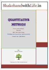 Quantitative Methods : Previous Sol...