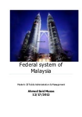Federal system of government in mal...