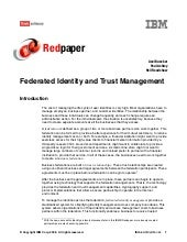 Federated identity and trust manage...