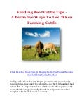 Feeding Beef Cattle Tips - Alternative Ways To Use When Farming Cattle